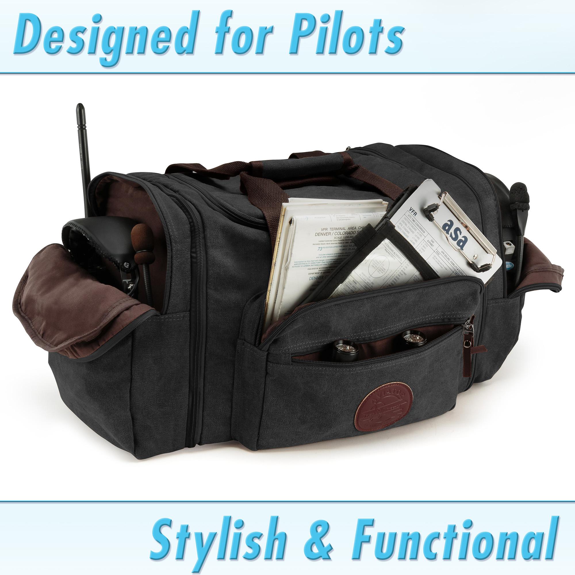 Deluxe Flight Bag by KMD AERO Multipurpose Travel Duffel Tote Bags ... 9fc47b12f7478