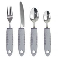 Adaptive Utensils Set with Built-Up Non-Weighted Handles