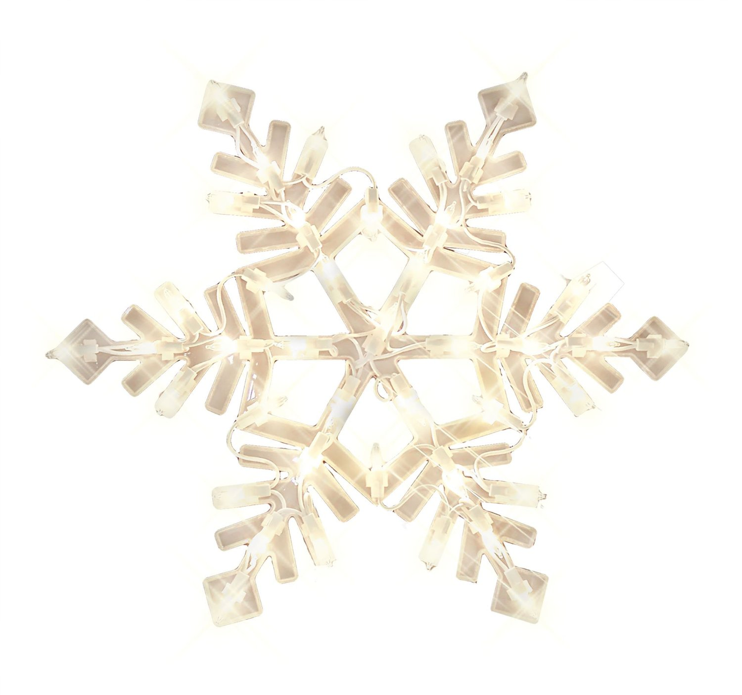 impact innovation import 94999 christmas window decoration lighted snowflake with suction cups 43 lights 14 x 1 x 17 b00gvjwpac